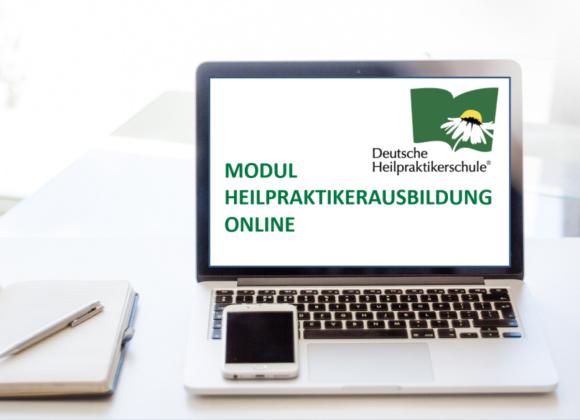 PC mit MODUL HEILPRAKTIKERAUSBILDUNG ONLINE