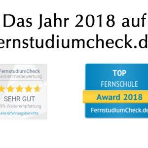 Das Jahr 2018 auf fernstudiumcheck.de